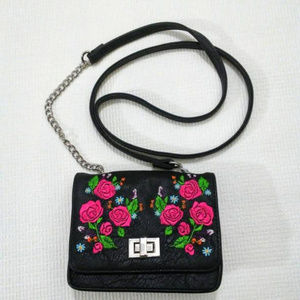 Crossbody Bag Embroidered Roses